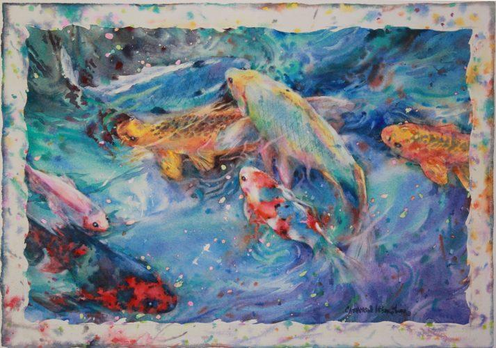 """Catherine W. Smith Underwater Blitz - 16"""" x 23"""