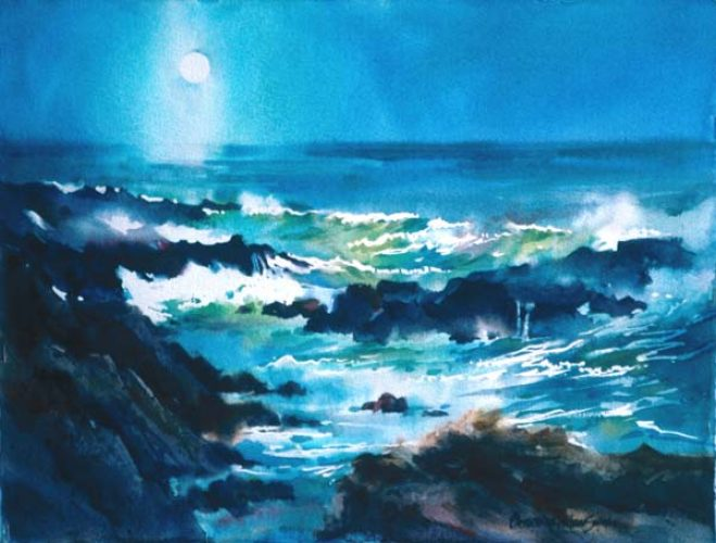 "Catherine W. Smith Pacific Blue Light - 13"" x 17"""